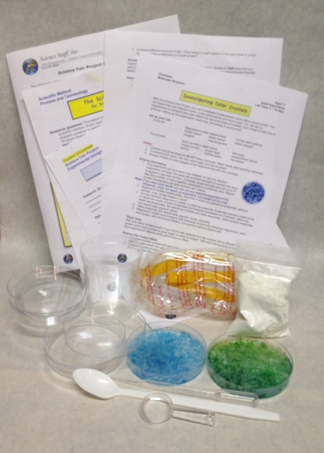 Science Fair Investigating Color Crystals Kit